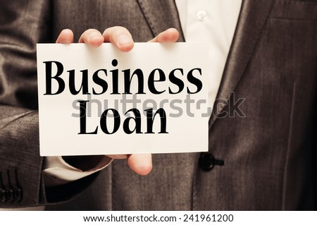 Business Loan concept - stock photo