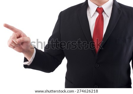 Business man action pointing - stock photo