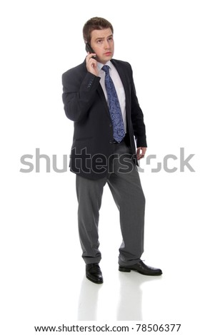 business man and calling by phone