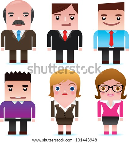 Business man and lady - stock photo