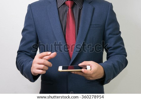 Business Man and mobile phone