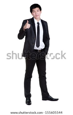business man Attractive smart sucess good  in suit isolated