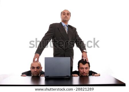 business man, boss, business photo - stock photo