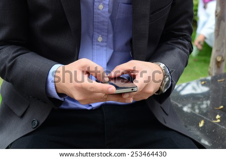 Business man chat on the phone