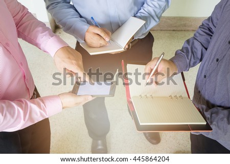 Business man discussing ideas at meeting - stock photo