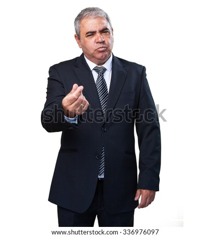business man doing a poor gesture