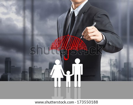 Business man drawing concept - stock photo