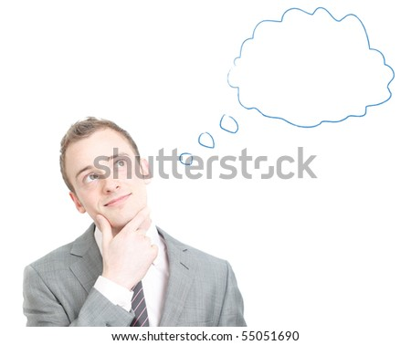 Business man dreaming - stock photo