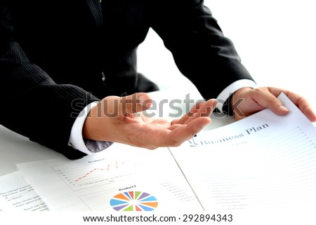 Business man explaining in meeting