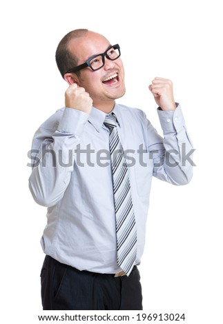 Business man fist up - stock photo