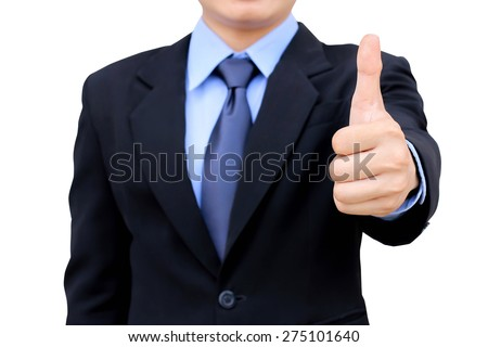 Business man good business concept isolated. - stock photo