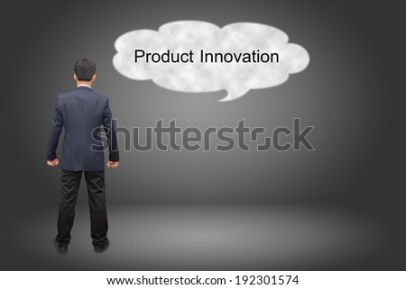 business man hand writing Product Innovation - stock photo