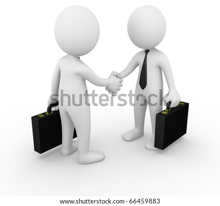 Business man handshake - stock photo
