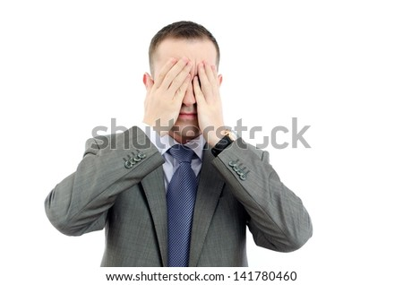 Business man having a depression - stock photo