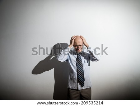 business man having a stress - stock photo