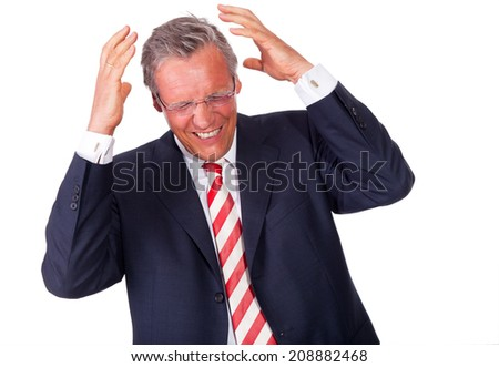business man headache - stock photo