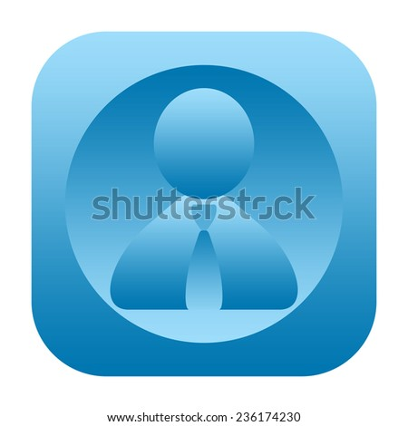 Business man icon - stock photo