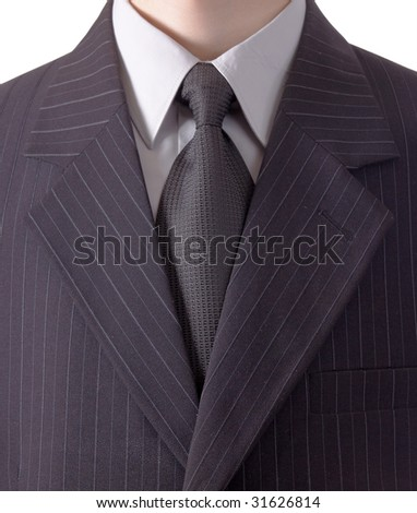 Business man in black striped suit