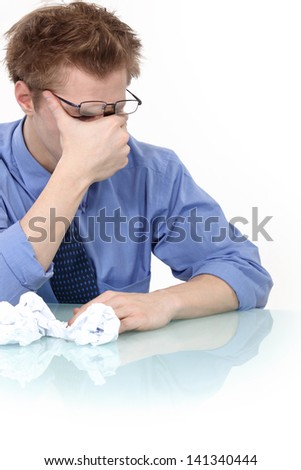 Business man in pain. - stock photo