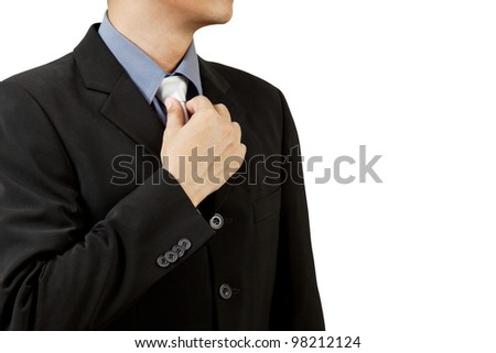 business man in  suit and tie - stock photo