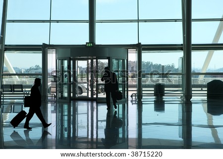 business man in the airport - stock photo