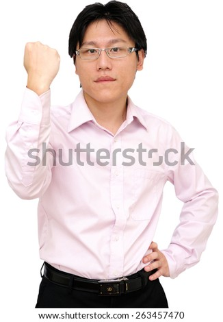 Business man isolate on white background - stock photo