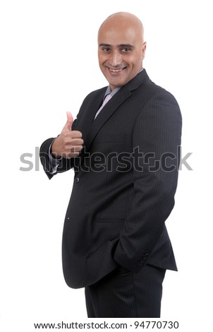 Business man isolated in white background