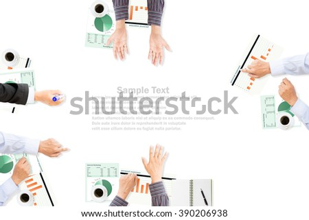 Business man meeting for business concept.copy space - stock photo