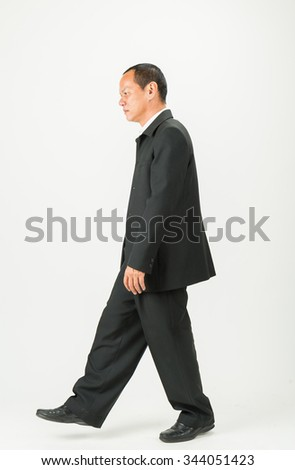 Business man  on a white background.