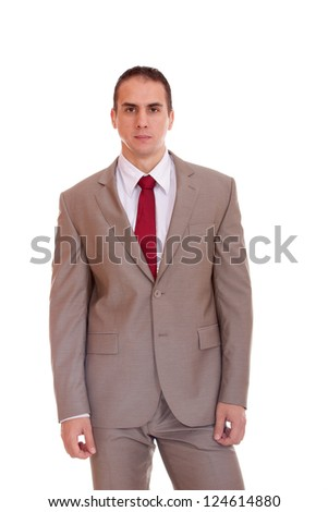 Business man over white background - stock photo
