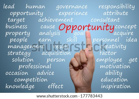 business man pointing opportunity concept