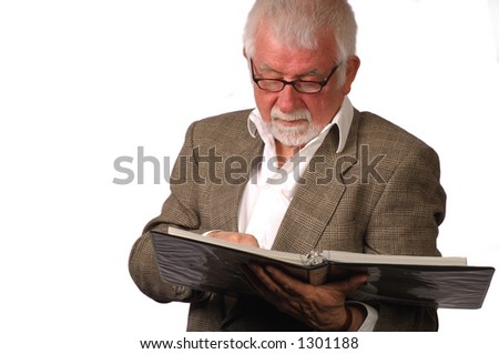 Business man read the roster - stock photo