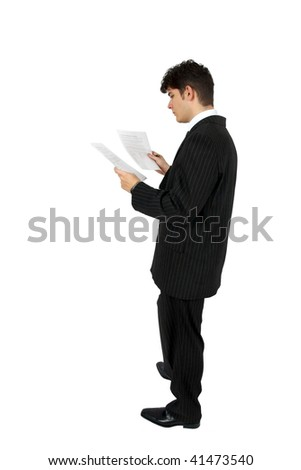 business man reading a document