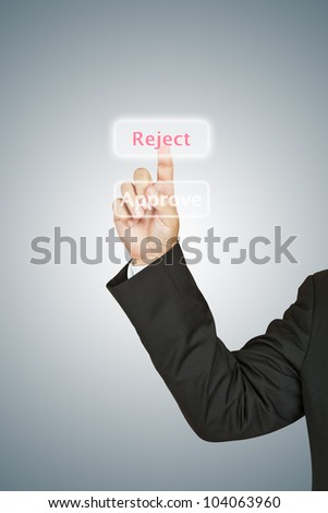 Business man select reject - stock photo