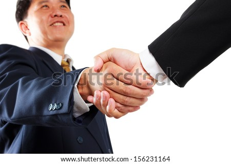 business man shaking hands isolated