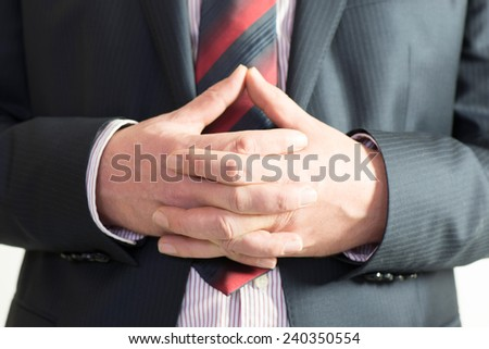 Business man showing gestures - stock photo