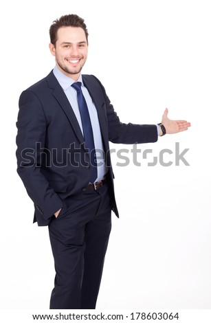 business man shows - stock photo