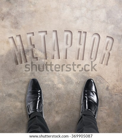 Business man standing at the beginning of a journey to metaphor