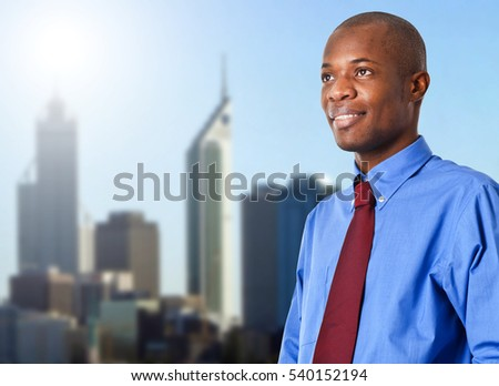Business man standing outdoor