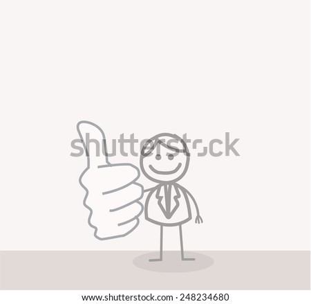 Business Man Thumb Up - stock photo