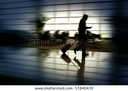 Business man traveling - stock photo