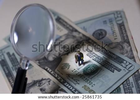 Business man under scrutiny - stock photo