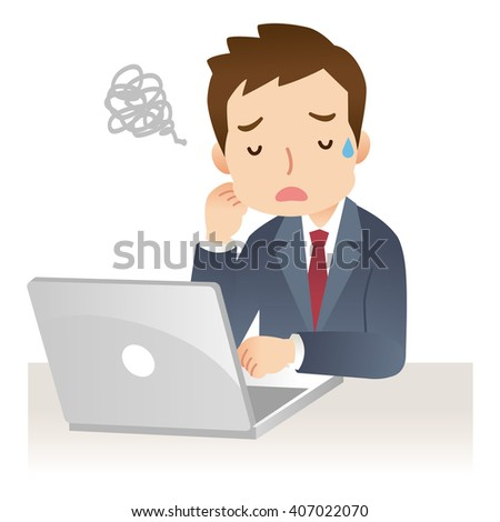 business man using laptop