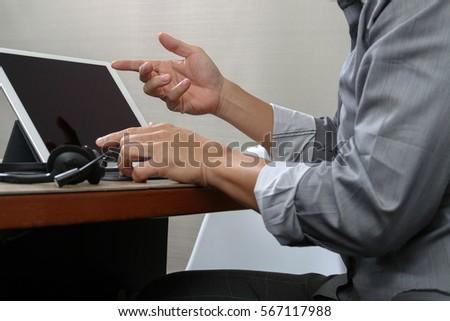 Hand Person Casting Vote Into Ballot Stock Photo 552864952