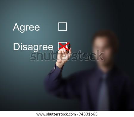 business man vote  disagree - stock photo