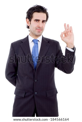 business man winning, isolated - stock photo