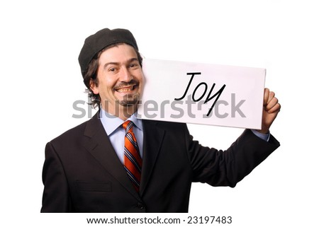 business man with chart over white background
