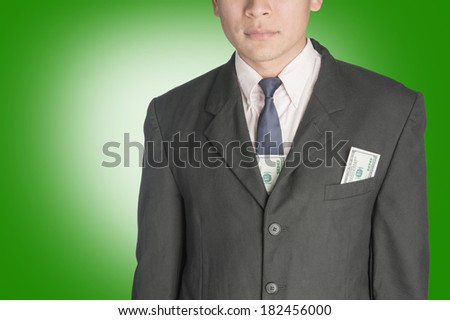 business Man with money dollar. - stock photo