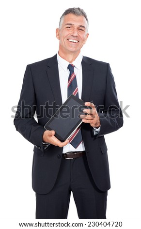 Business Man with tablet computer. - stock photo
