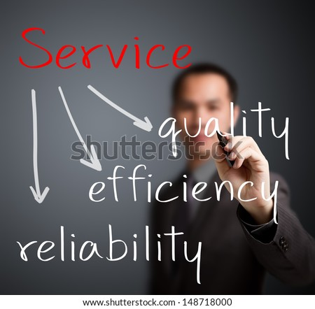 business man writing service concept - stock photo